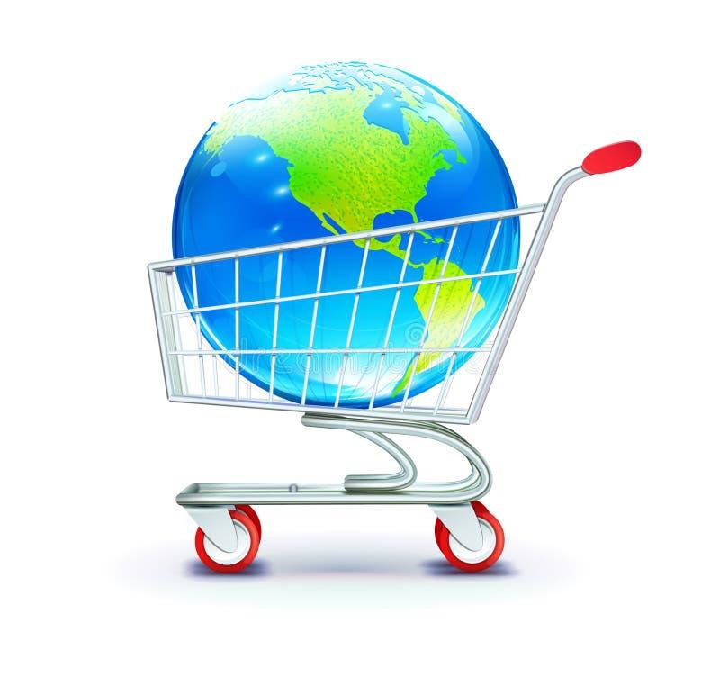 Compra global ilustração do vetor