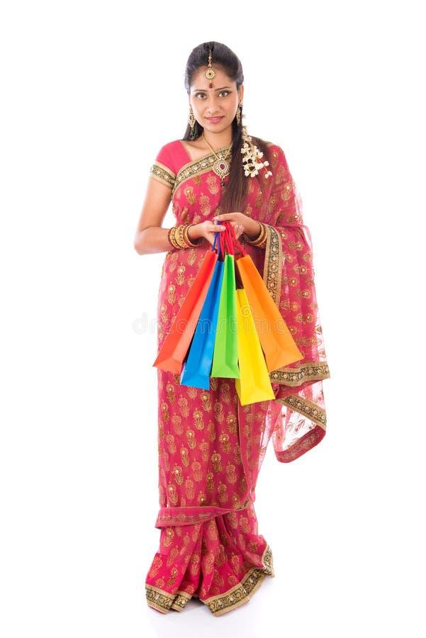 Compra indiana da mulher imagem de stock royalty free