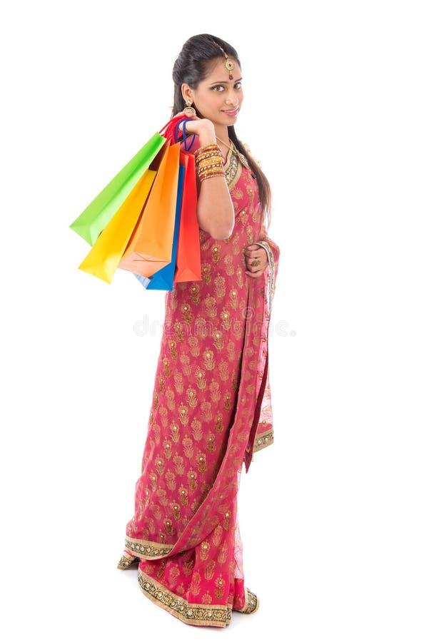 Compra indiana dos povos imagem de stock royalty free