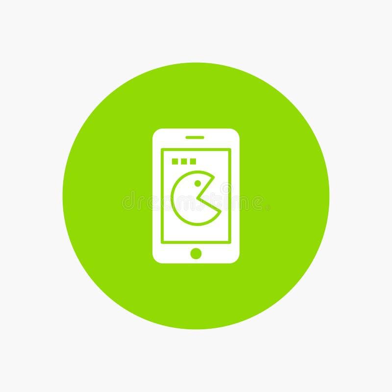 Compra, móvil, teléfono, icono blanco del glyph del hardware stock de ilustración