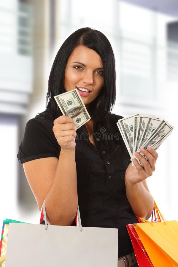 Compra - mulher nova imagens de stock royalty free