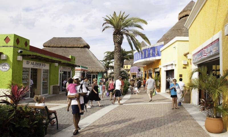 Compra na porta de Cozumel México fotos de stock royalty free