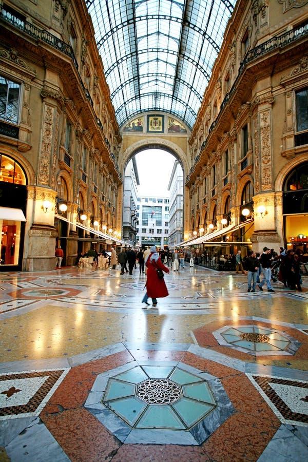 Compra no Galleria Vittorio   foto de stock royalty free