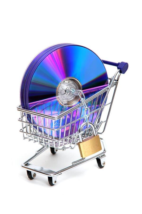Compra protegida do software fotografia de stock