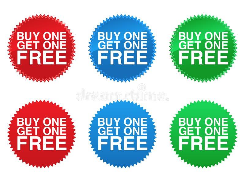 A compra uma começ a uma selos livres ilustração royalty free