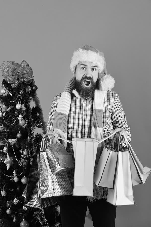 Compra, venda, presentes, árvore de Natal e conceito do xmas imagem de stock royalty free
