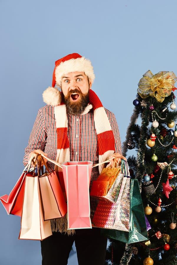 Compra, venda, presentes, árvore de Natal e conceito do xmas imagens de stock