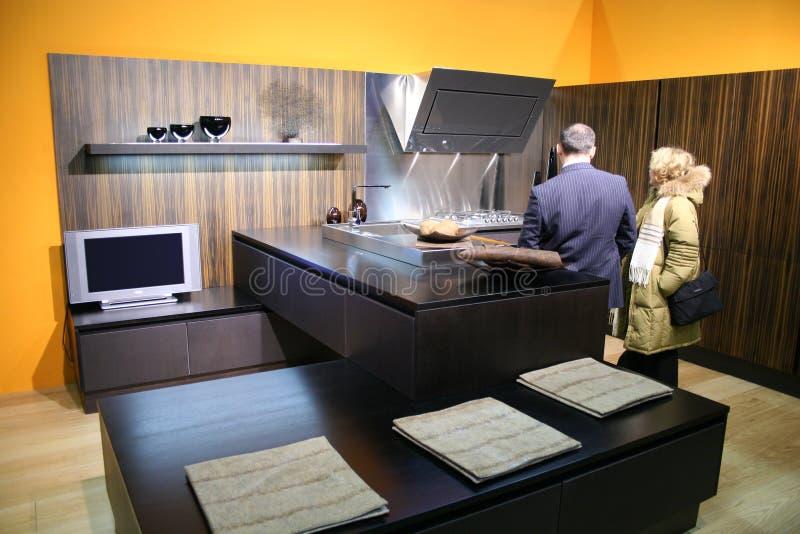Comprador de la cocina fotografía de archivo