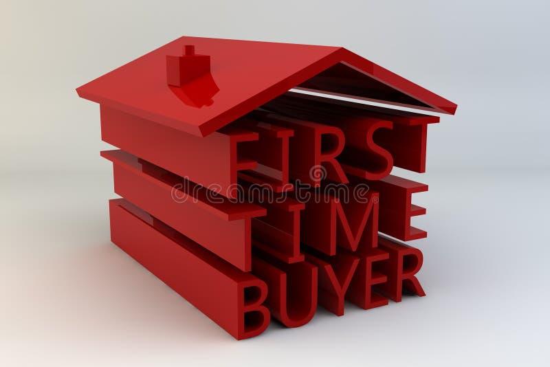 Comprador de la primera vez stock de ilustración