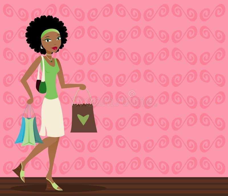 Comprador del African-American stock de ilustración