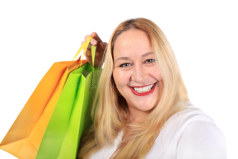 Comprador rubio de la señora foto de archivo libre de regalías