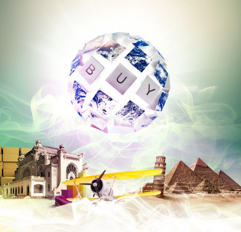 Compradores globales ilustración del vector