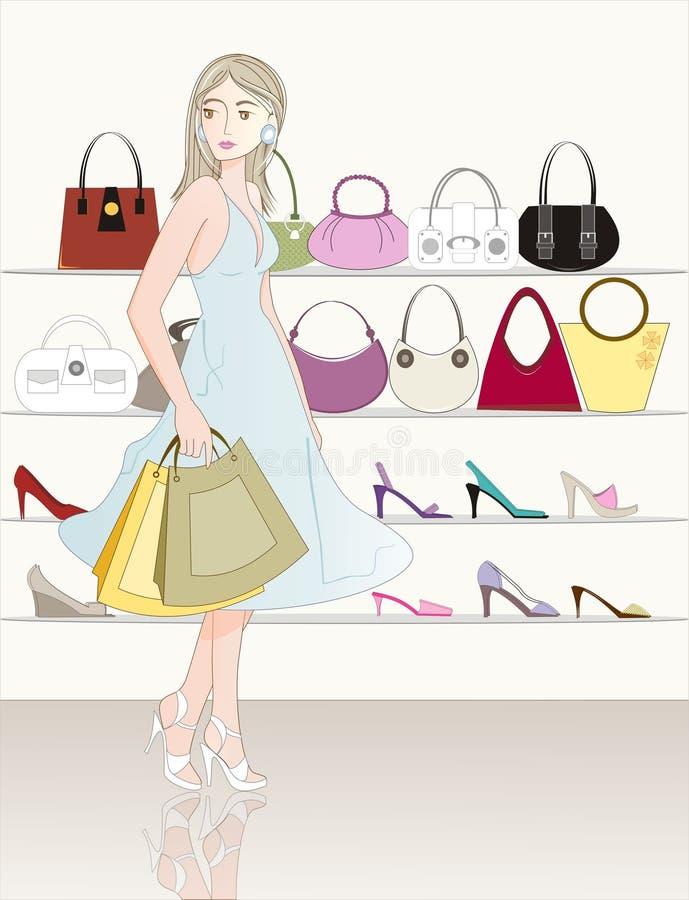 Compras stock de ilustración