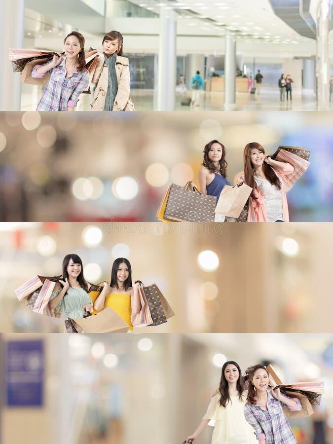Compras asiáticas de la mujer imagen de archivo libre de regalías