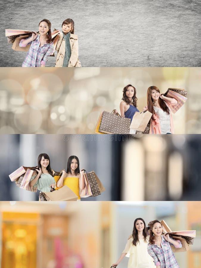 Compras asiáticas de la mujer imágenes de archivo libres de regalías
