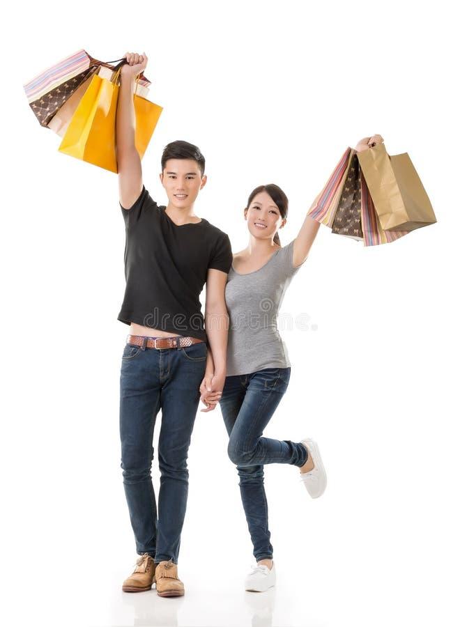 Compras asiáticas de los pares imagen de archivo libre de regalías