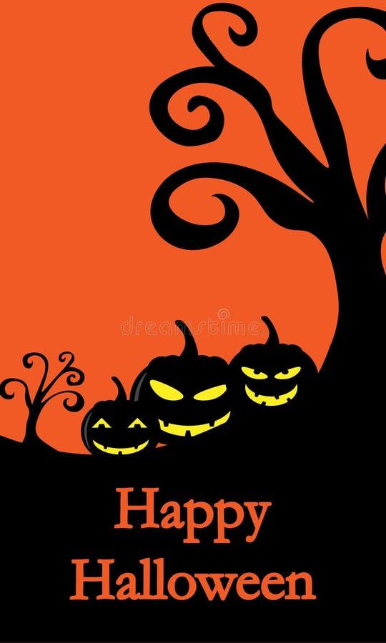 Compras de la bandera de la venta de Halloween Ilustración del vector ilustración del vector