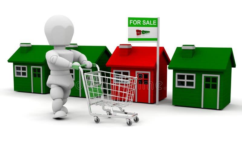 Compras de la casa stock de ilustración. Ilustración de casa - 6999581