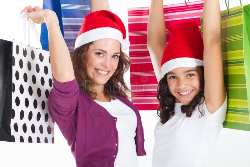 Compras de la familia imagen de archivo libre de regalías