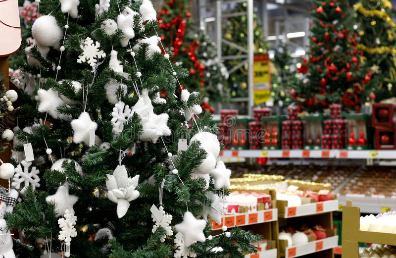 Compras de la Navidad fotos de archivo