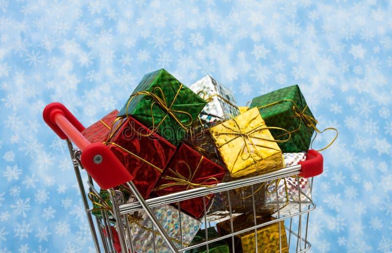 Compras de la Navidad imagenes de archivo