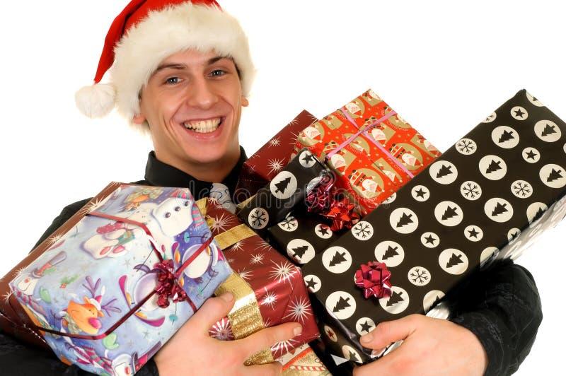 Compras de la Navidad foto de archivo