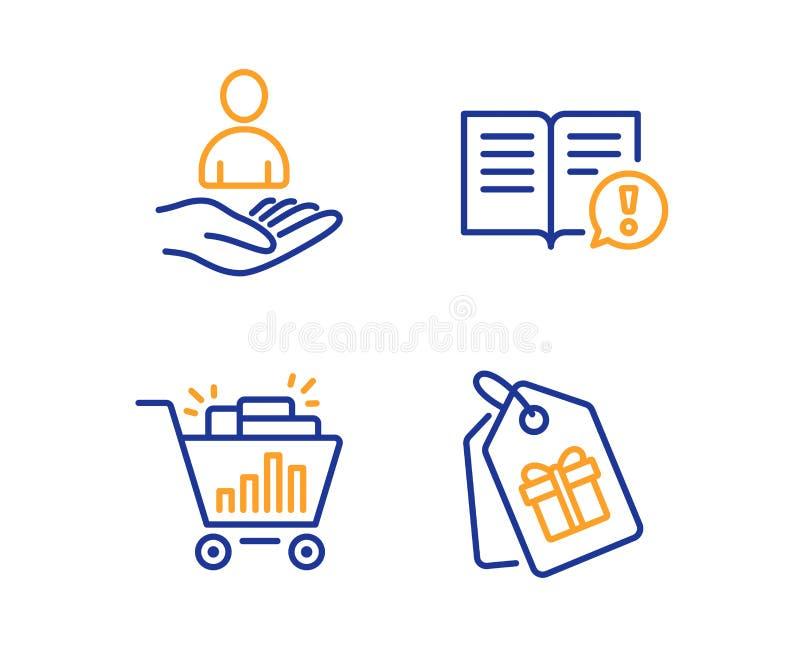 Compras de los hechos, de Seo y sistema de los iconos del reclutamiento Los vales firman Informaci?n importante, Analytics, hora  stock de ilustración