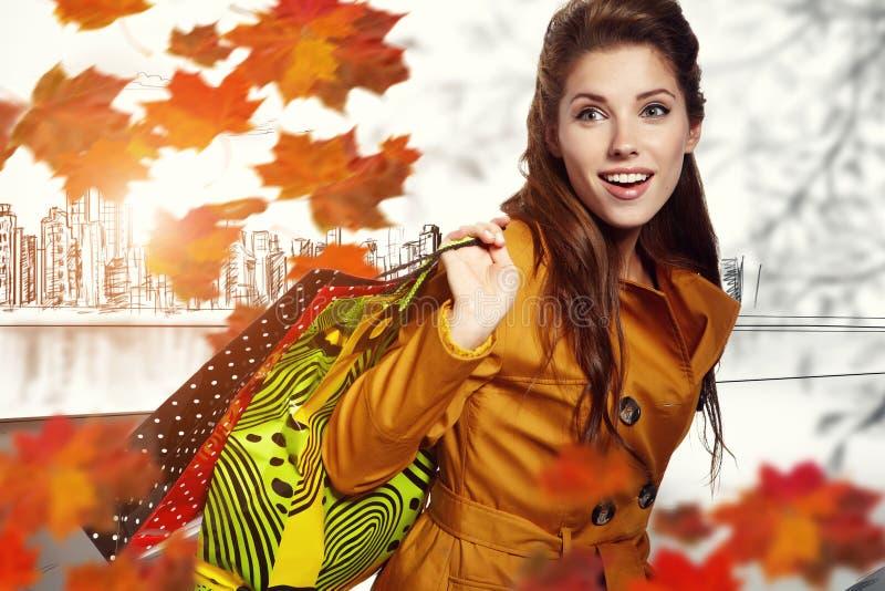 Compras del otoño fotos de archivo libres de regalías