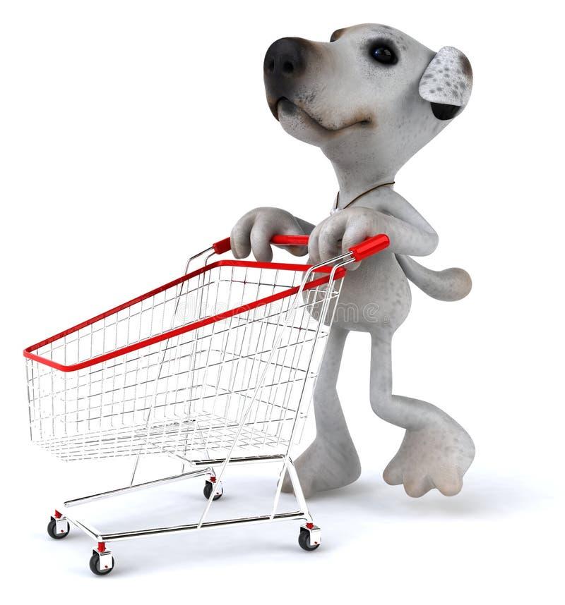 Compras del perro stock de ilustración