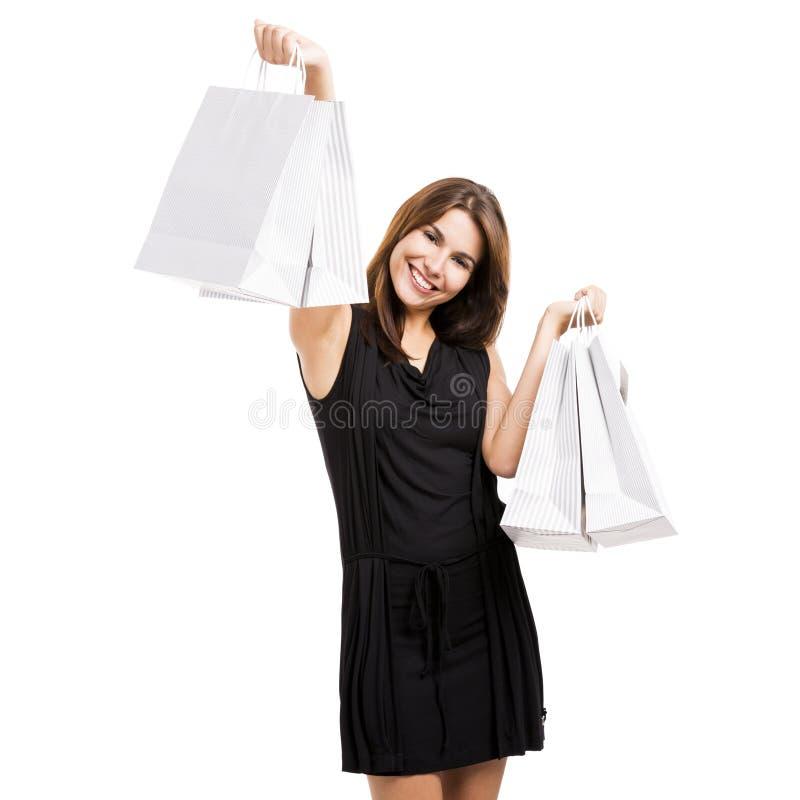 Compras felices imagen de archivo libre de regalías