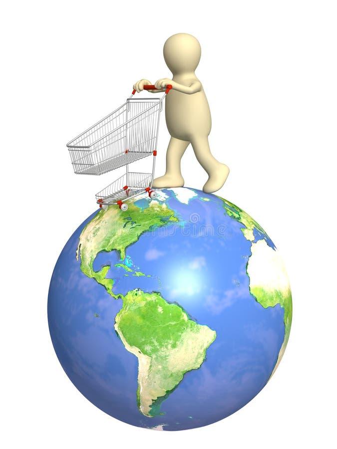 Compras globales ilustración del vector