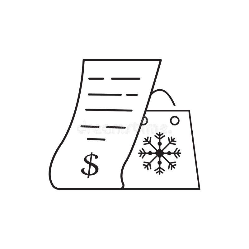 Compras y ejemplo gráfico del diseño del vector del icono de la factura libre illustration
