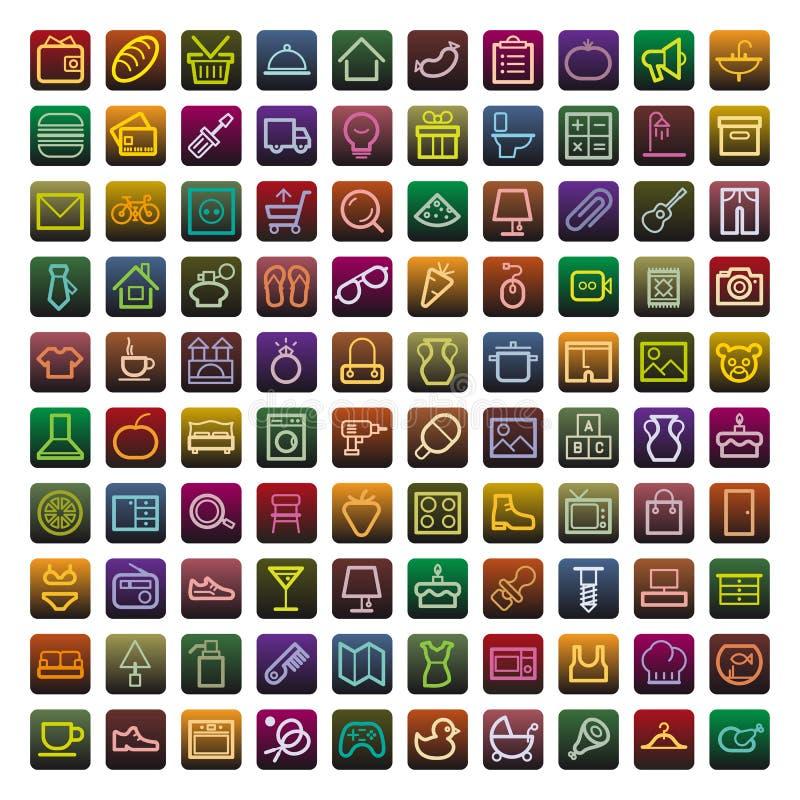 Compras y electrodomésticos imagen de archivo libre de regalías