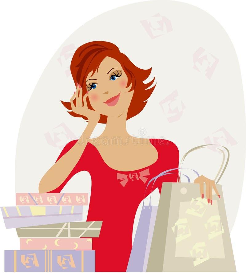 Compratore felice illustrazione vettoriale