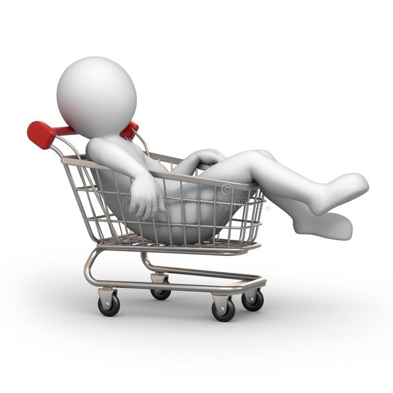 Compratore stanco illustrazione di stock