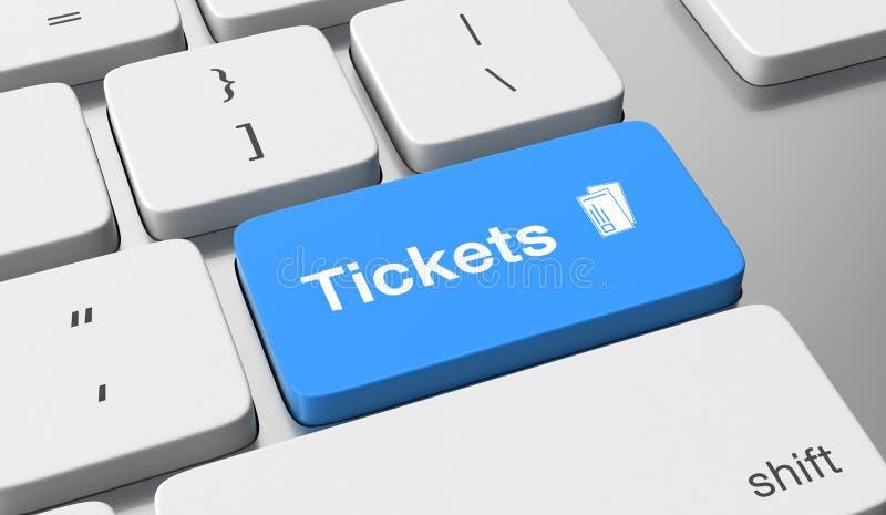 Compre bilhetes em linha ilustração stock
