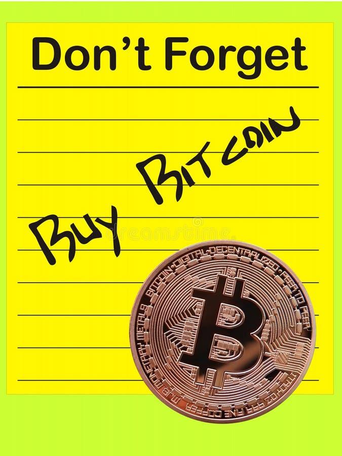 Compre Bitcoin ilustración del vector
