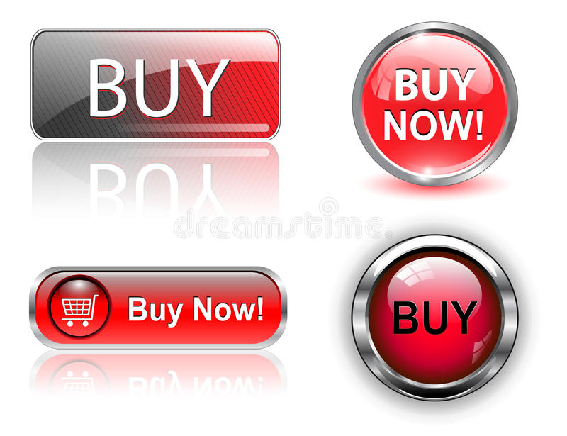 Compre botones, iconos fijados. libre illustration