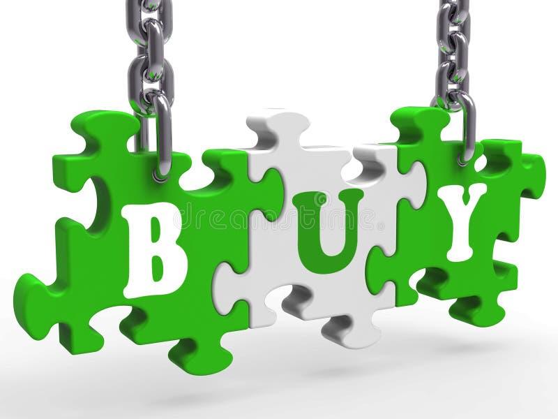 Compre comprar do comércio ou do varejo do comércio das mostras ilustração do vetor