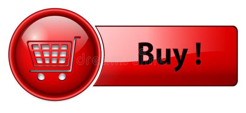 Compre el icono, botón libre illustration
