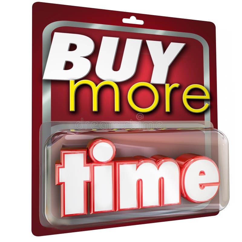 Compre mais venda do pacote do produto das palavras do tempo 3d ilustração stock