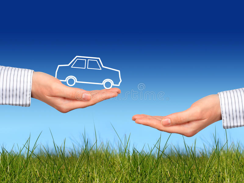 Compre o carro novo. foto de stock royalty free