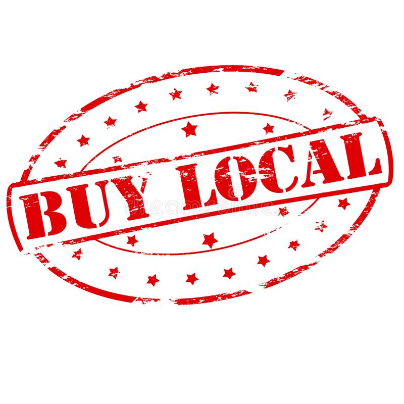 Compre o Local ilustração royalty free
