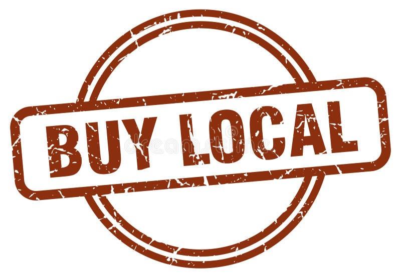 Compre o selo local ilustração do vetor