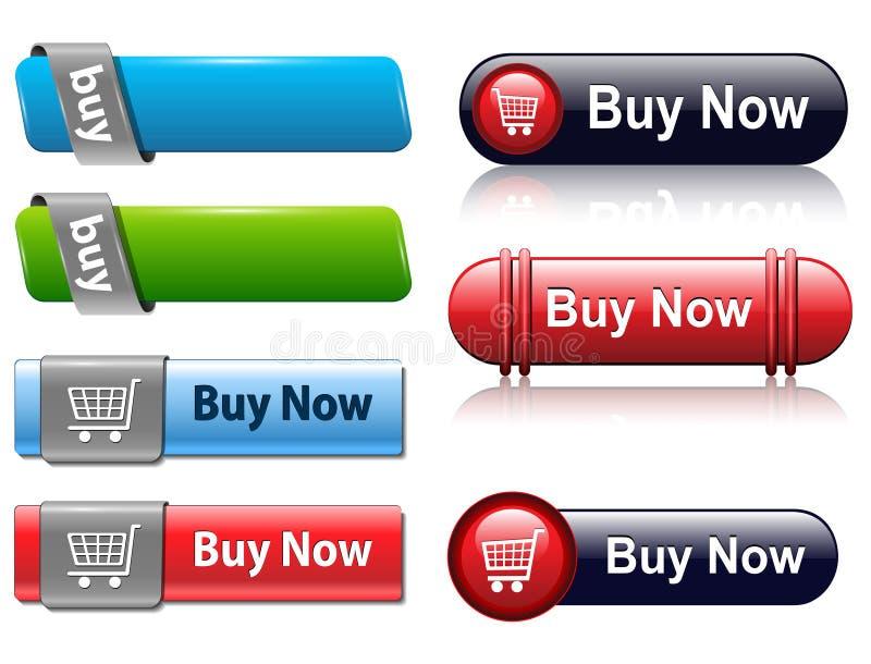 Compre teclas ilustração do vetor