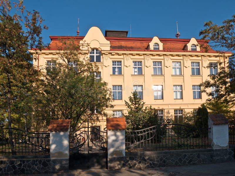 Comprehensive school in Zatec town. Czech Republic stock images