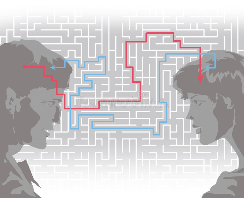 Comprensión ilustración del vector
