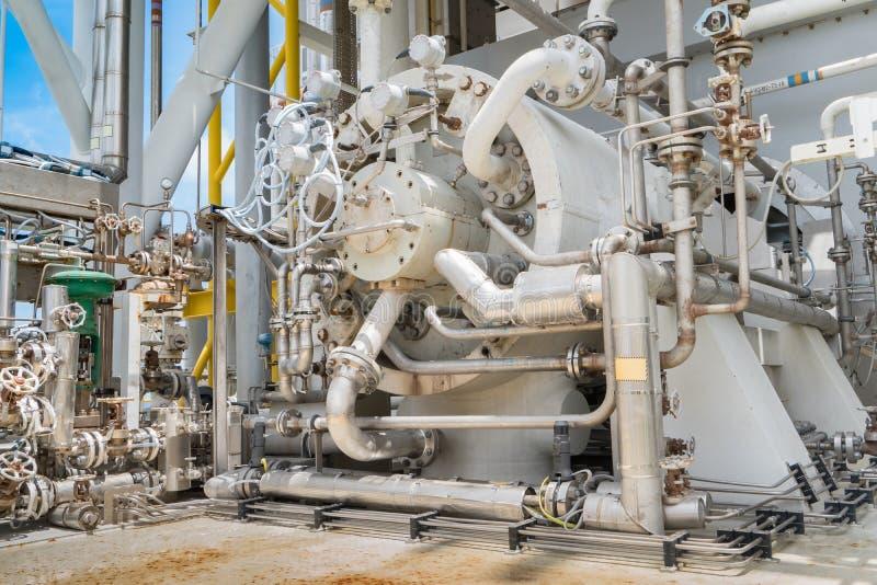 Compresor de la turbina de gas, centrífugo y tipo multi de la etapa imágenes de archivo libres de regalías