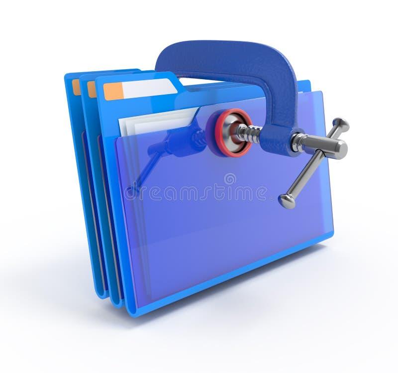 Compressão de dados. ilustração stock