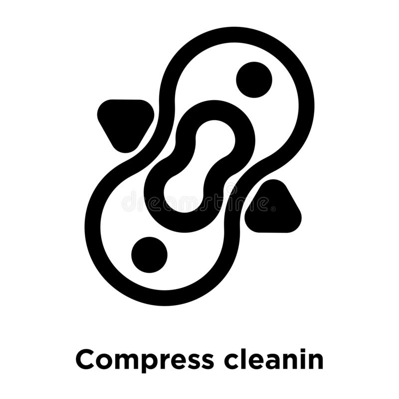 Compress cleanin icon vector isolated on white background, logo. Concept of Compress cleanin sign on transparent background, filled black symbol royalty free illustration